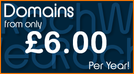 Domain from £6 Per Year